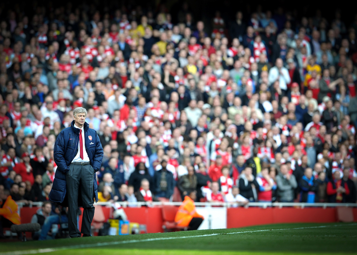 Picture by Andrew Timms/Focus Images Ltd. 07917 236526.26/02/12.Arsenal manager Arsene Wenger during the Barclay Premier League match against Tottenham Hotspur at Emirates Stadium, London.