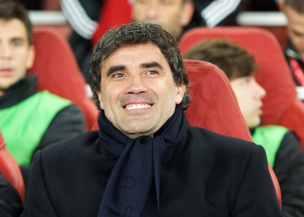 Manager Zoran Mamic of Dinamo Zagreb during the UEFA Champions League match at the Emirates Stadium, London Picture by Alan Stanford/Focus Images Ltd +44 7915 056117 24/11/2015