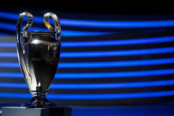 The Champions League trophy pictured during the UEFA Champions League draw at Grimaldi Forum, Monte Carlo Picture by Ian Wadkins/Focus Images Ltd +44 7877 568959 28/08/2014