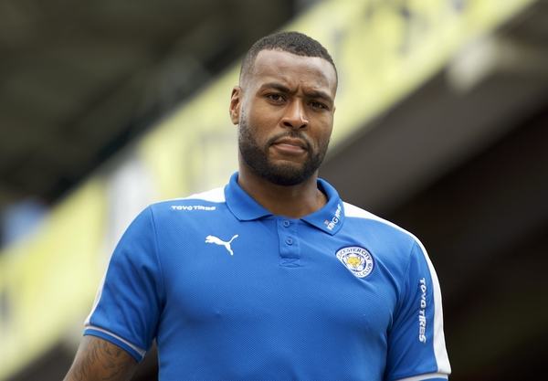 Wes Morgan of Leicester City arriving for the Barclays Premier League match at Selhurst Park, London Picture by Alan Stanford/Focus Images Ltd +44 7915 056117 19/03/2016