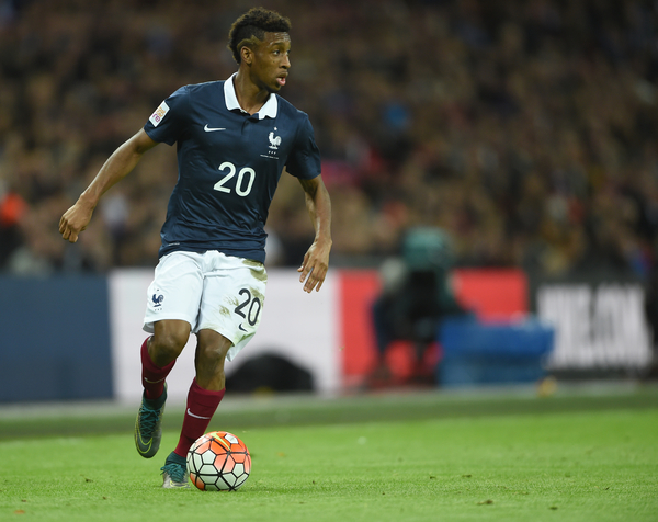 Kingsley Coman of France during the Breast Cancer Care International Friendly match at Wembley Stadium, London Picture by Daniel Hambury/Focus Images Ltd +44 7813 022858 17/11/2015