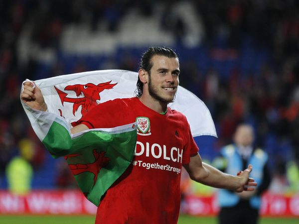 Gareth Bale after the UEFA Euro 2016 Qualifying match at the Cardiff City Stadium, Cardiff Picture by Mike Griffiths/Focus Images Ltd +44 7766 223933 13/10/2015