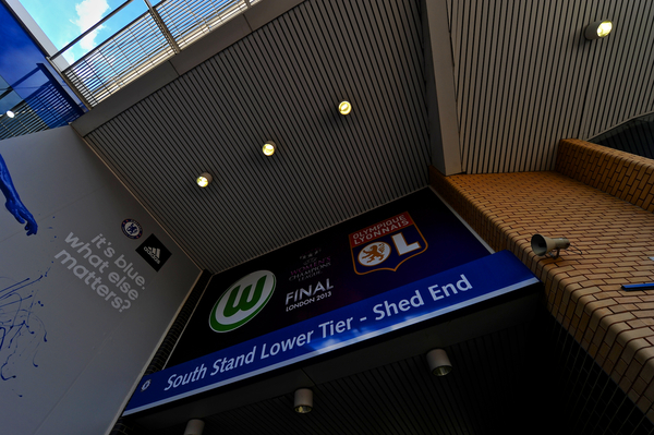 Picture by Ian Wadkins/Focus Images Ltd +44 7877 568959.23/05/2013.Stadium entrance to the UEFA Women's Champions League match at Stamford Bridge, London.