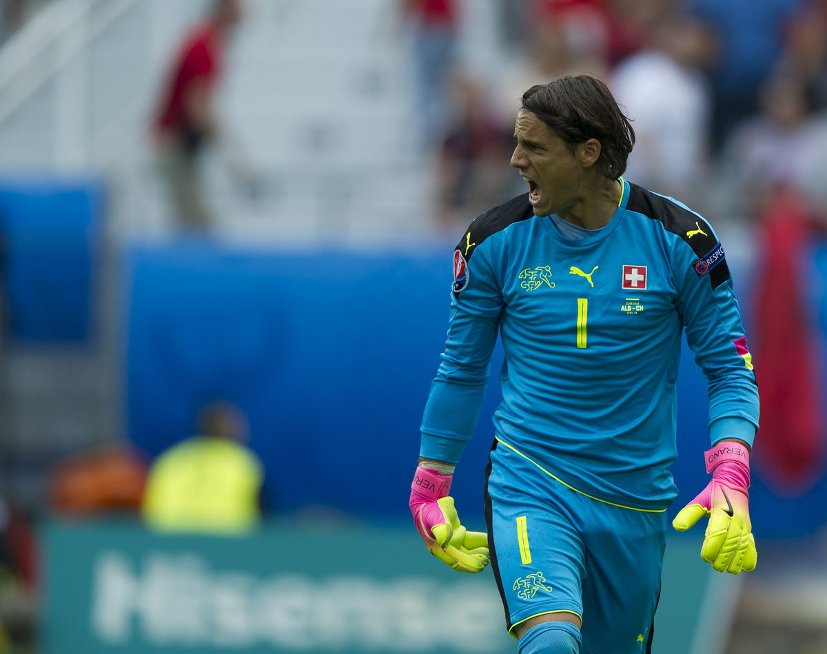 Yann Sommer of Switzerland during the EURO 2016 match at Stade Bollaert-Delelis , Lens Picture by Anthony Stanley/Focus Images Ltd 07833 396363 11/06/2016