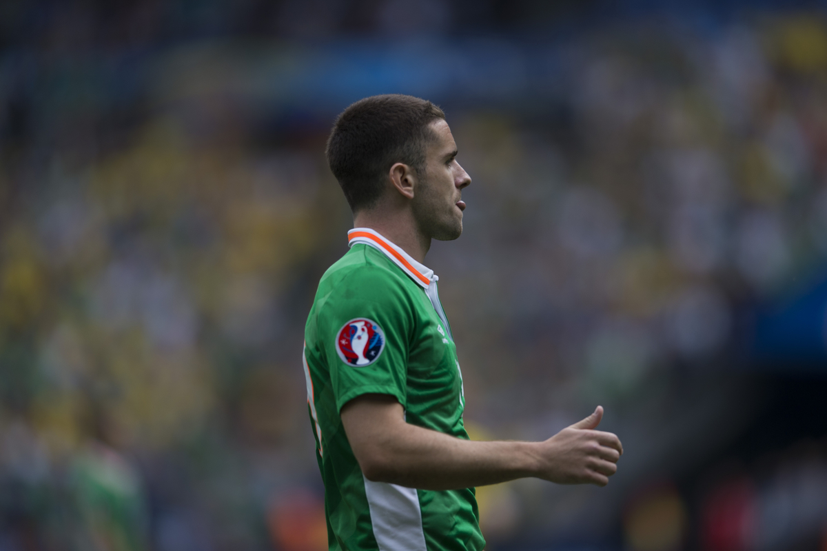 Robbie Brady of Republic of Ireland pictured during the UEFA Euro 2016 match at Stade de France, Paris Picture by Anthony Stanley/Focus Images Ltd 07833 396363 13/06/2016