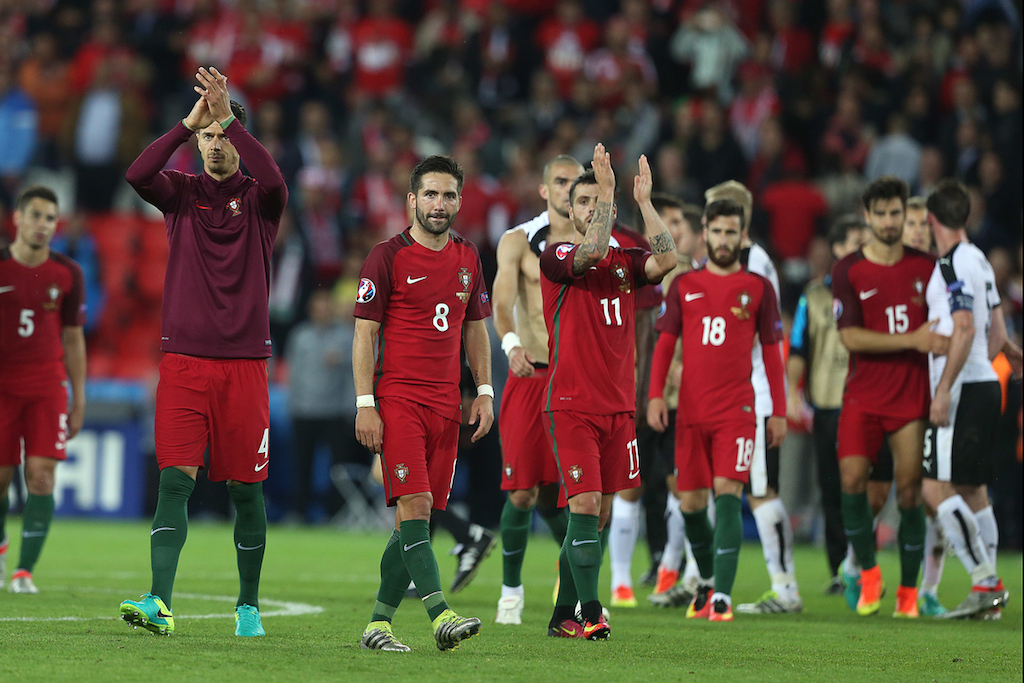 Cristiano Ronaldo of Portugal applauds the fans and apologises to them at the end of the UEFA Euro 2016 match at Parc des Princes, Paris Picture by Paul Chesterton/Focus Images Ltd +44 7904 640267 18/06/2016