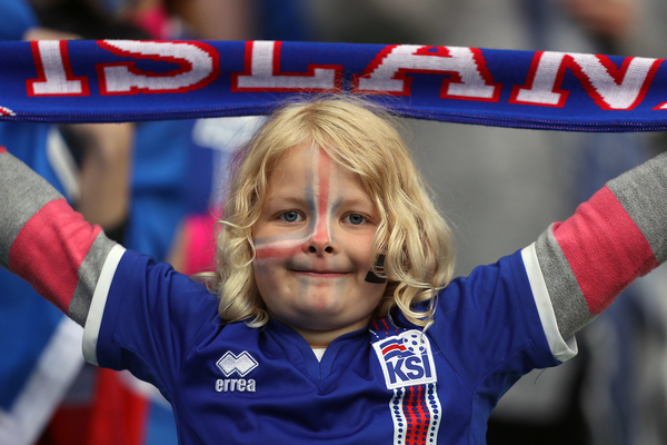 Iceland fans before the UEFA Euro 2016 match at Stade Geoffroy-Guichard, Saint-Étienne, France. Picture by Paul Chesterton/Focus Images Ltd +44 7904 640267 14/06/2016