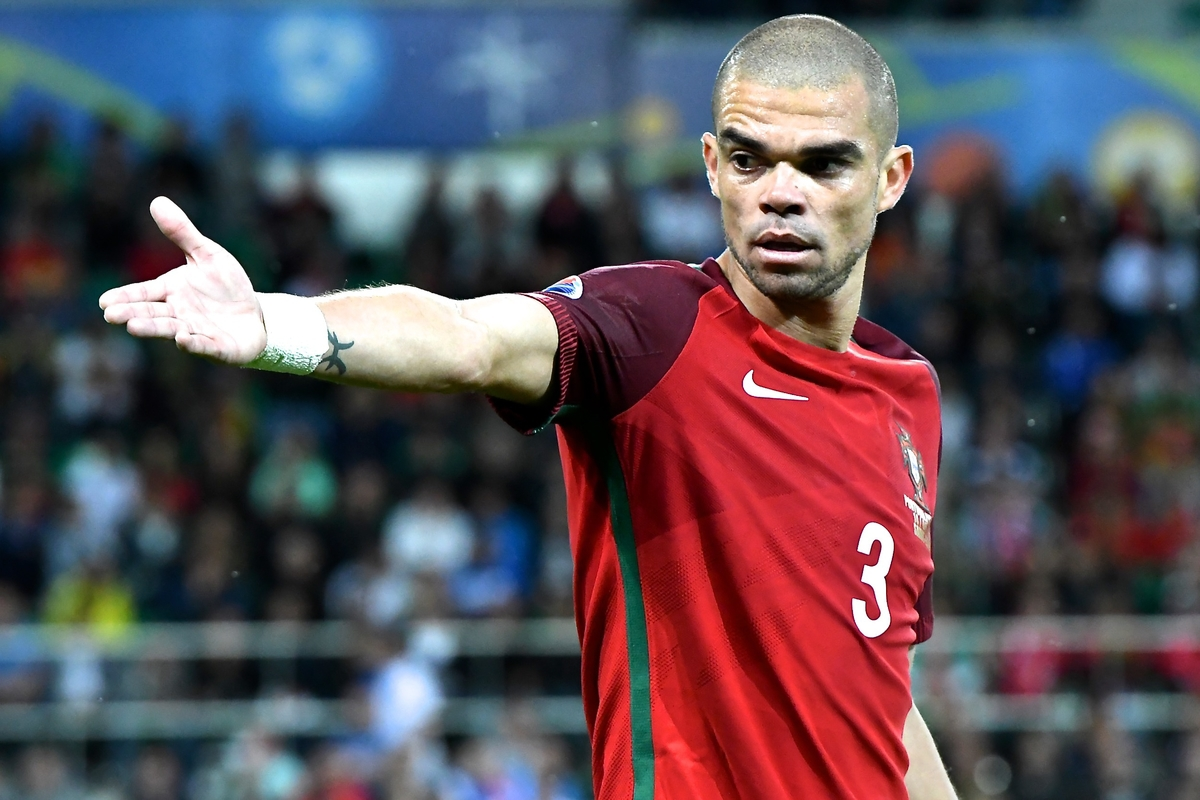 Pepe of Portugal during the UEFA Euro 2016 match at Stade Geoffroy-Guichard, Saint-Étienne, France Picture by Kristian Kane/Focus Images Ltd 07814482222 14/06/2016