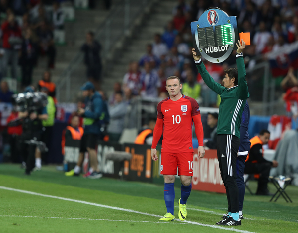 Wayne Rooney of England comes on as a second half substitute during the UEFA Euro 2016 match at Stade Geoffroy-Guichard, Saint-Étienne Picture by Paul Chesterton/Focus Images Ltd +44 7904 640267 13/06/2016