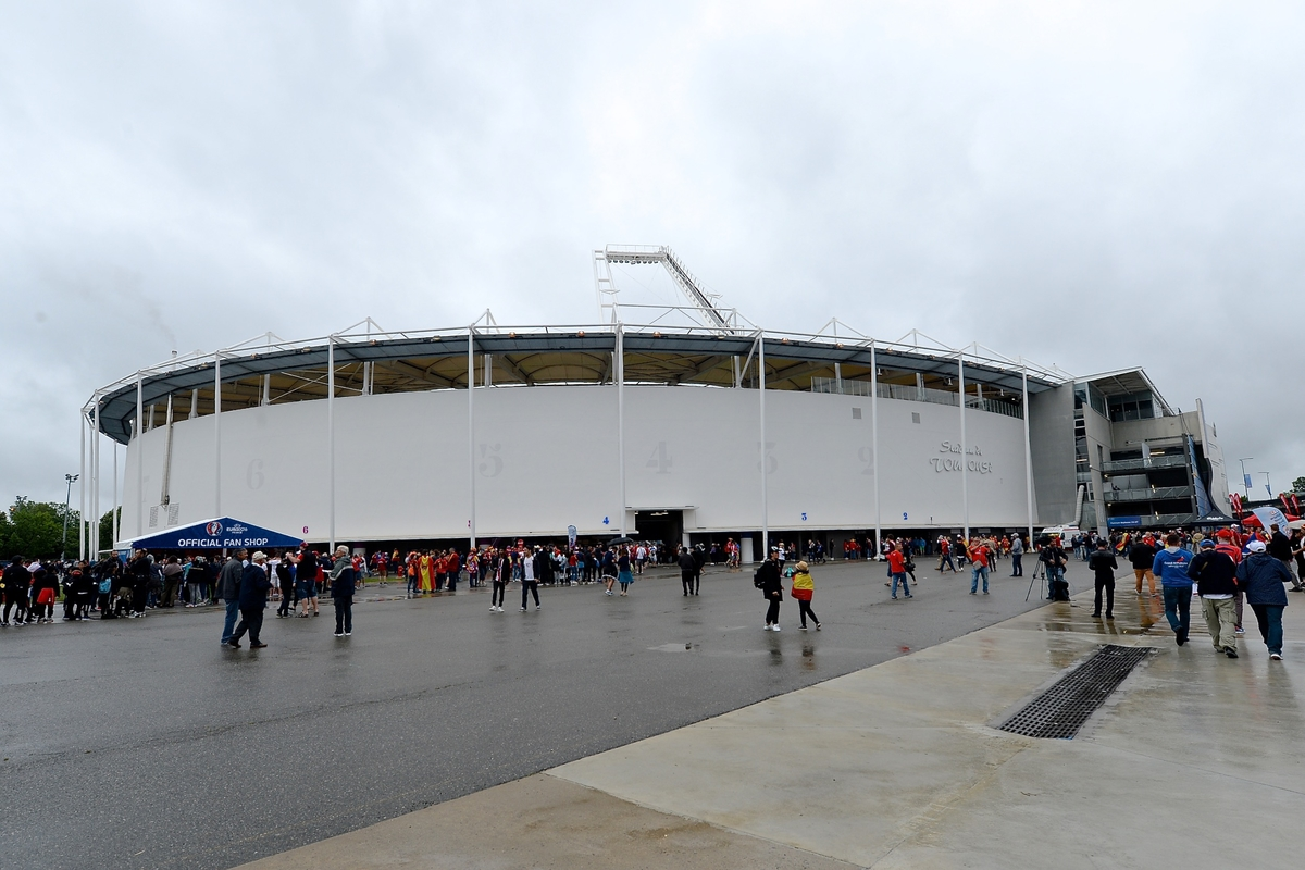 General view of the exterior of the stadium pictured ahead of the UEFA Euro 2016 match at Stadium de Toulouse, Toulouse Picture by Kristian Kane/Focus Images Ltd 07814482222 13/06/2016