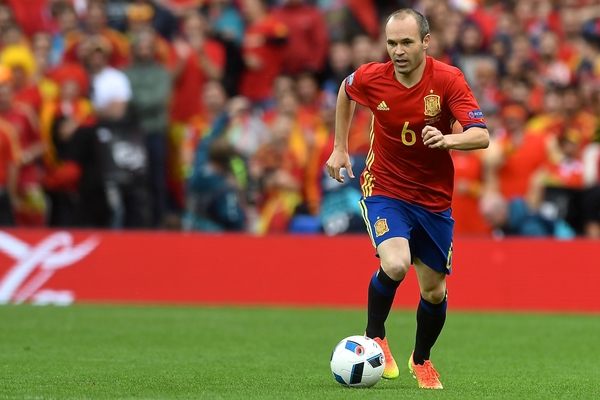 Andrés Iniesta of Spain during the UEFA Euro 2016 match at Stadium de Toulouse, Toulouse Picture by Kristian Kane/Focus Images Ltd 07814482222 13/06/2016