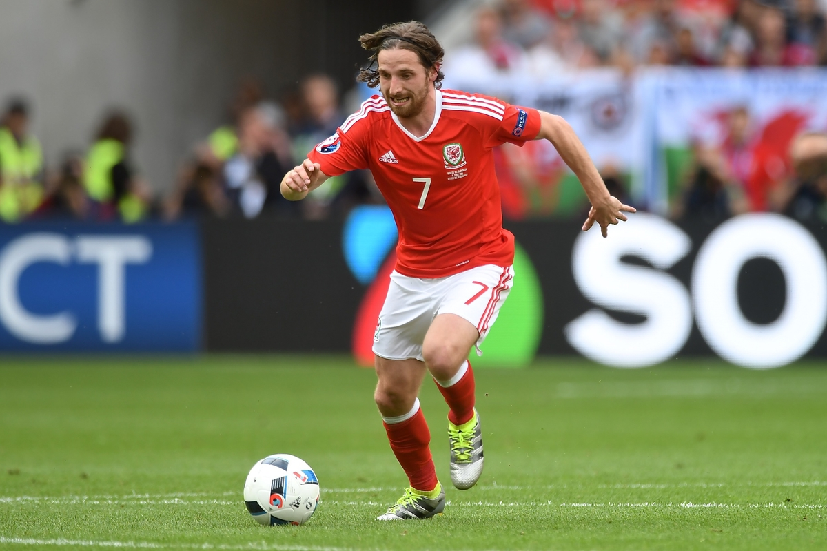 Joe Allen of Wales the UEFA Euro 2016 match at Stade de Bordeaux, Bordeaux Picture by Kristian Kane/Focus Images Ltd 07814482222 11/06/2016