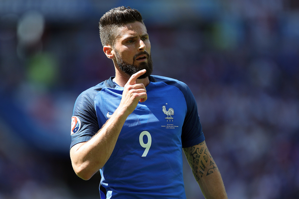 Olivier Giroud of France during the UEFA Euro 2016 match at Stade de Lyons, Lyons Picture by Paul Chesterton/Focus Images Ltd +44 7904 640267 26/06/2016