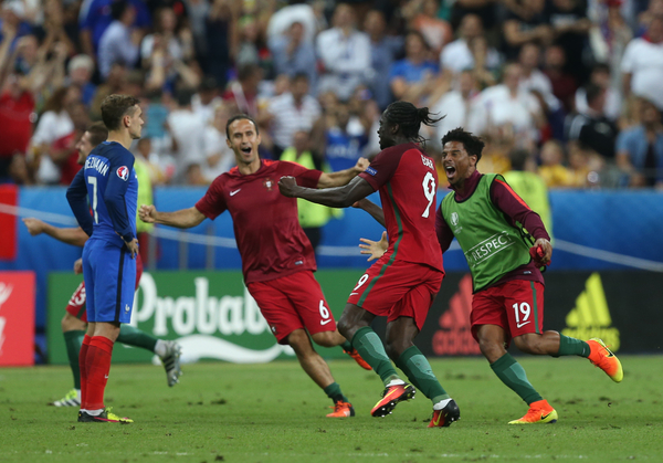 Eder of Portugal celebrates after scoring their first goal during the UEFA Euro 2016 Final at Stade de France, Paris Picture by Paul Chesterton/Focus Images Ltd +44 7904 640267 10/07/2016