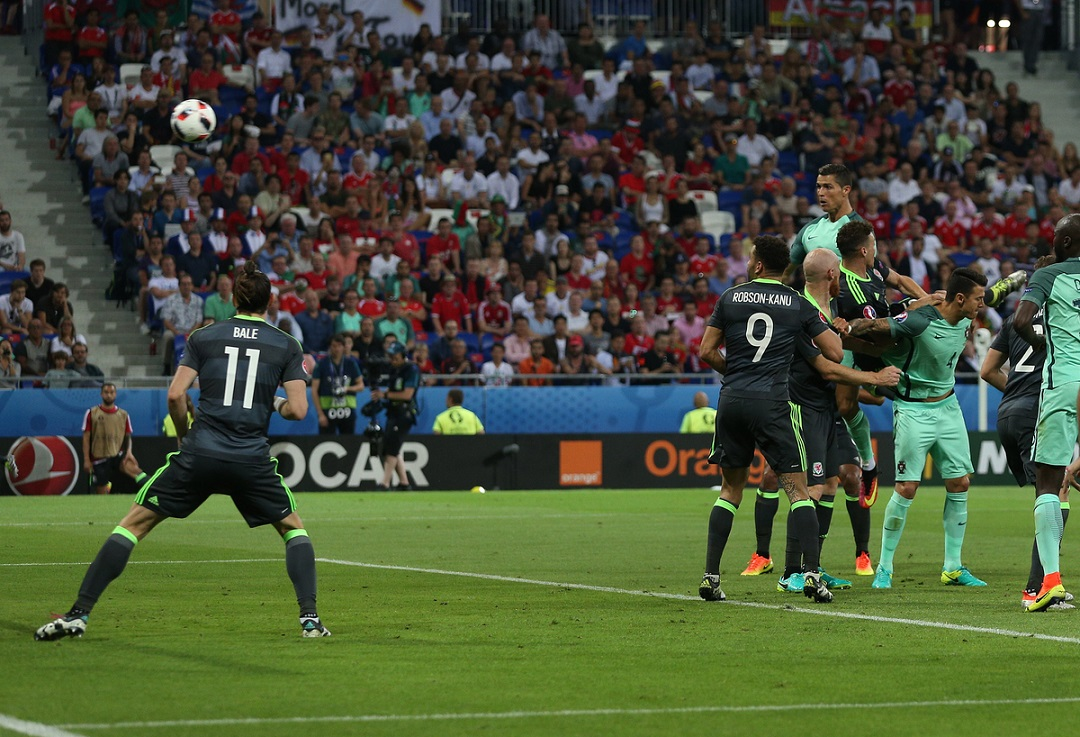 Cristiano Ronaldo of Portugal scores his sides first goal to make the scoreline 1-0 during the UEFA Euro 2016 semi-final match at Stade de Lyons, Lyons Picture by Paul Chesterton/Focus Images Ltd +44 7904 640267 06/07/2016