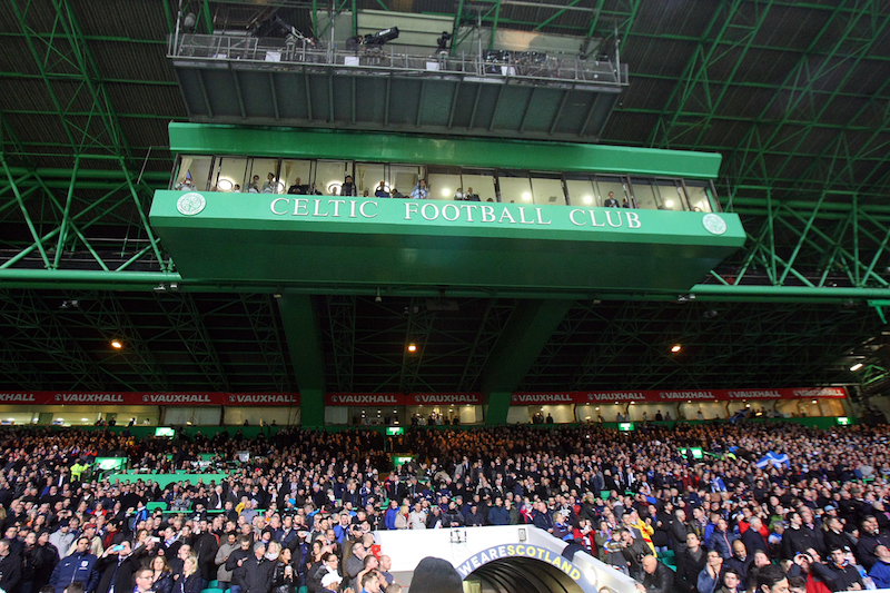 General view of Celtic Park as the crowd awaits the arrival of the two teams before the International Friendly match at Celtic Park, Glasgow Picture by Paul Chesterton/Focus Images Ltd +44 7904 640267 18/11/2014