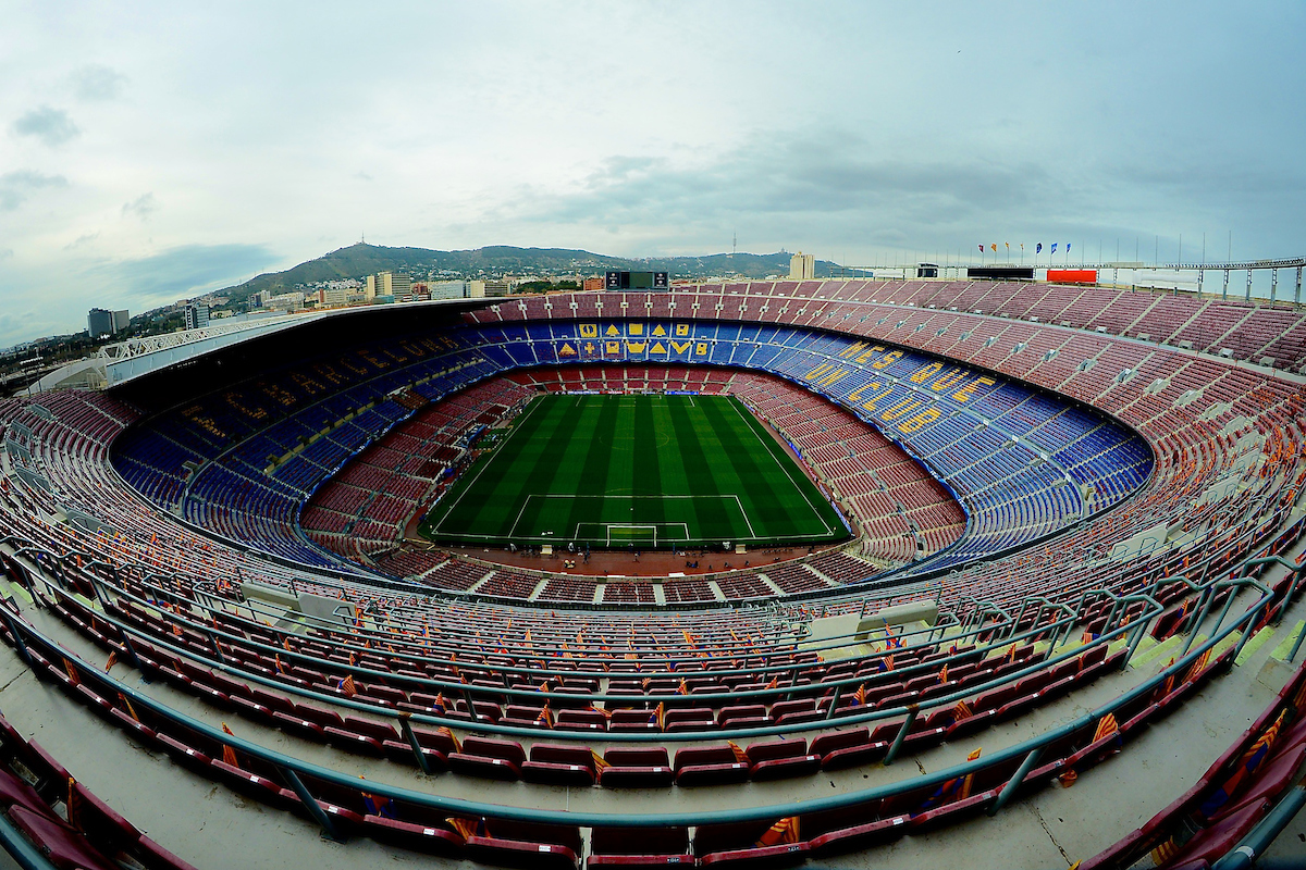 General view of the stadium pictured ahead of the UEFA Champions League match at Camp Nou, Barcelona Picture by Ian Wadkins/Focus Images Ltd +44 7877 568959 18/03/2015
