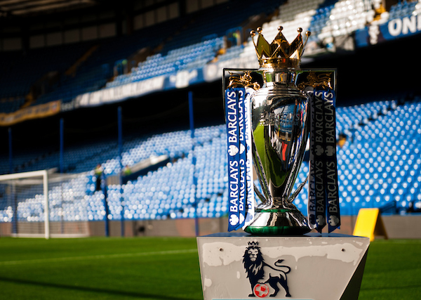 The Premier League trophy is on display before the Barclays Premier League match at Stamford Bridge, London Picture by Jack Megaw/Focus Images Ltd +44 7481 764811 31/10/2015