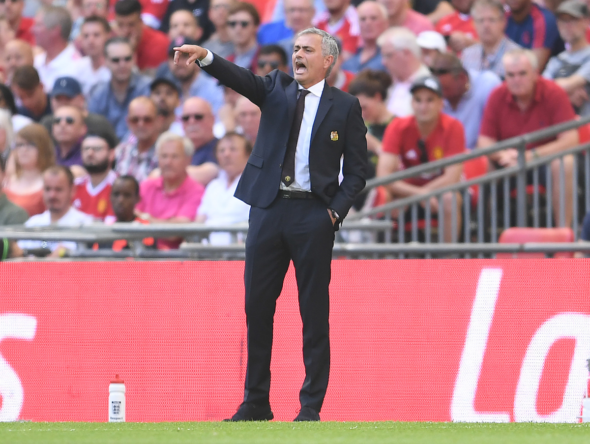 Manager of Manchester United Jose Mourinho during the FA Community Shield match at Wembley Stadium, London Picture by Andrew Timms/Focus Images Ltd +44 7917 236526 07/08/2016