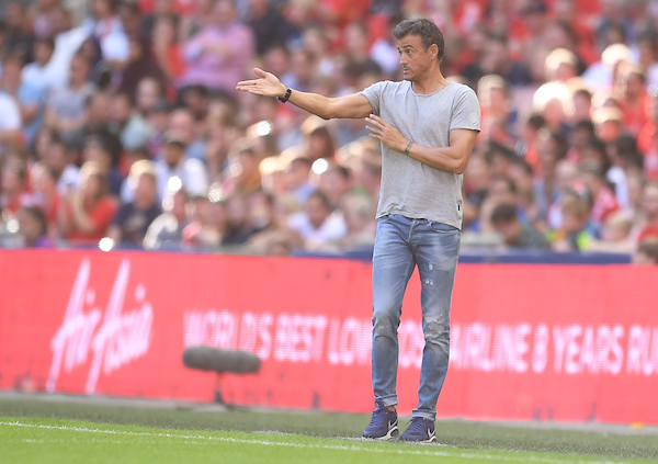 Manager of FC Barcelona Luis Enrique during the International Champions Cup match at Wembley Stadium, London Picture by Andrew Timms/Focus Images Ltd +44 7917 236526 06/08/2016