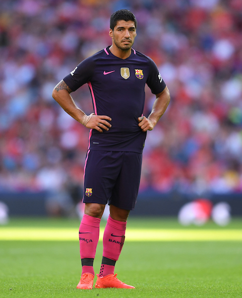 Luis Suarez of FC Barcelona during the International Champions Cup match against Liverpool at Wembley Stadium, London Picture by Andrew Timms/Focus Images Ltd +44 7917 236526 06/08/2016