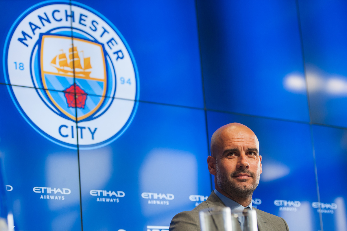 Pep Guardiola pictured during a press conference at City Football Academy, Manchester Picture by Matt Wilkinson/Focus Images Ltd 07814 960751 08/07/2016