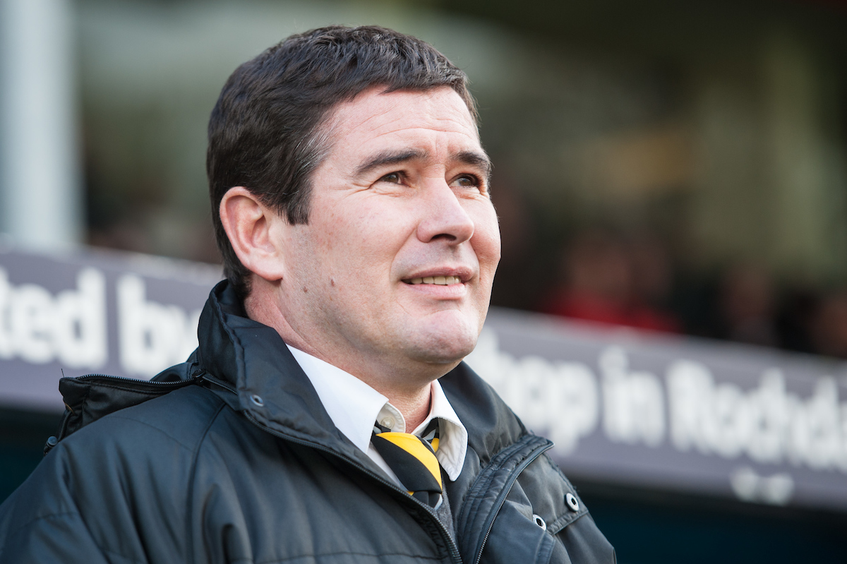 Burton Albion manager Nigel Clough during the Sky Bet League 1 match at Spotland, Rochdale Picture by Matt Wilkinson/Focus Images Ltd 07814 960751 30/01/2016
