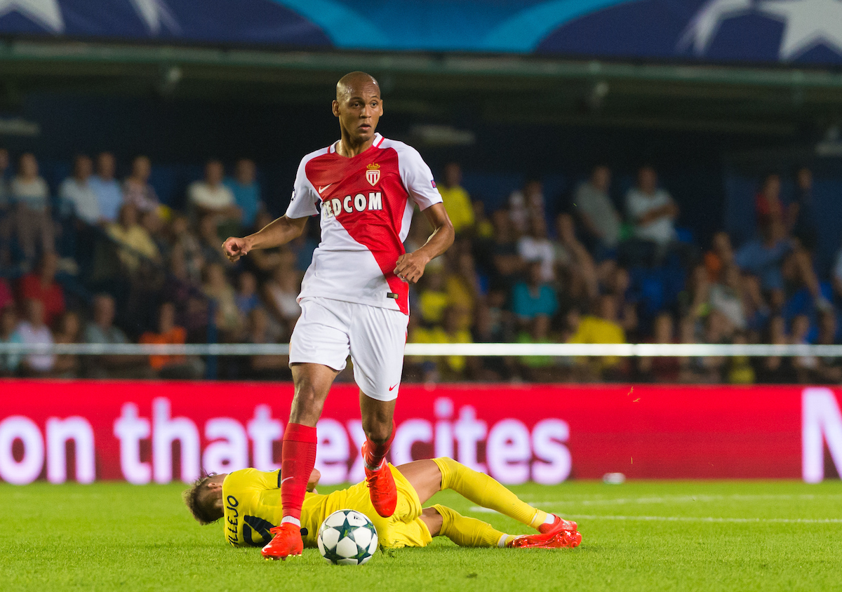 Fabinho of AS Monaco FC during the UEFA Champions League qualifying play-off match at Estadio El Madrigal, Villarreal Picture by Maria Jose Segovia/Focus Images Ltd +34 660052291 17/08/2016