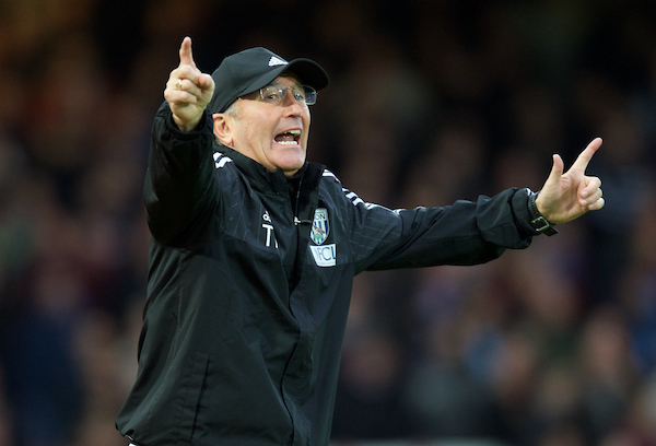 Manager Tony Pulis of West Bromwich Albion during the Barclays Premier League match at the Boleyn Ground, London Picture by Alan Stanford/Focus Images Ltd +44 7915 056117 29/11/2015