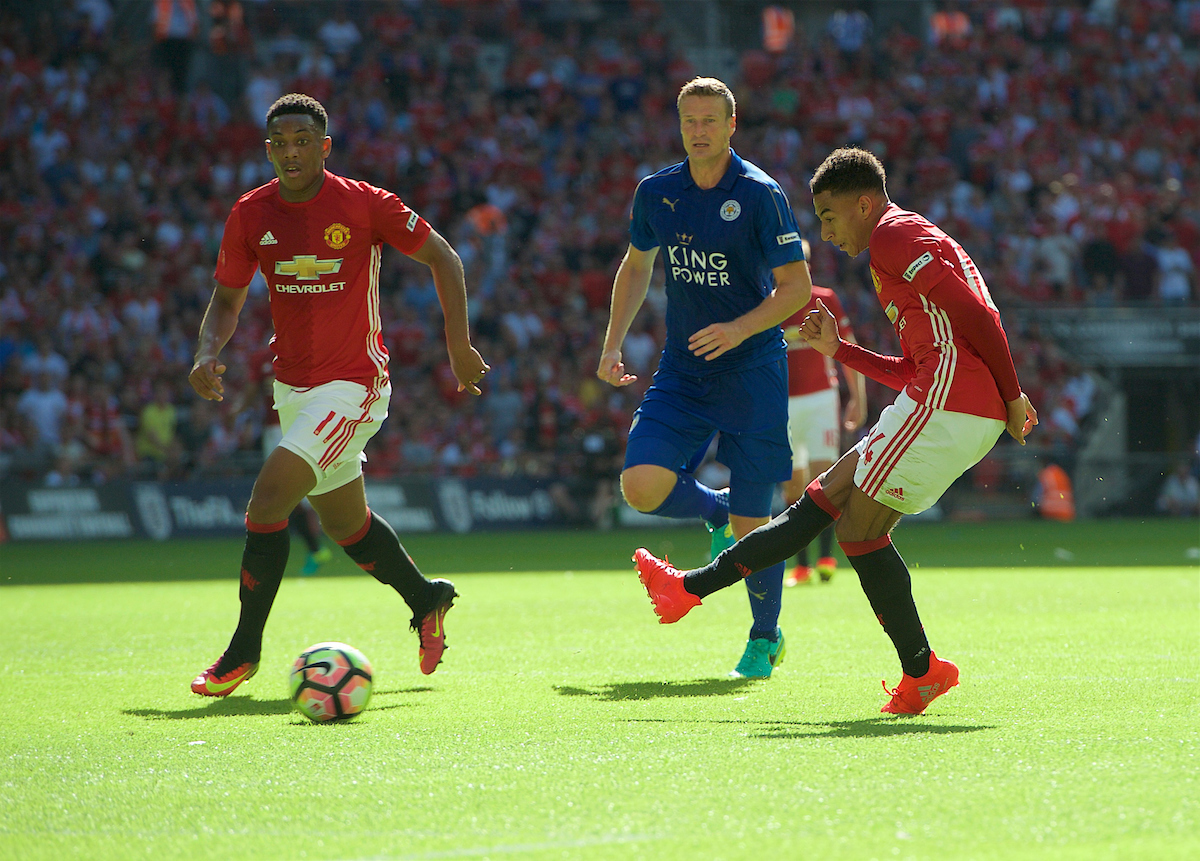 Jesse Lingard Anthony Martial Manchester United Leicester City Focus