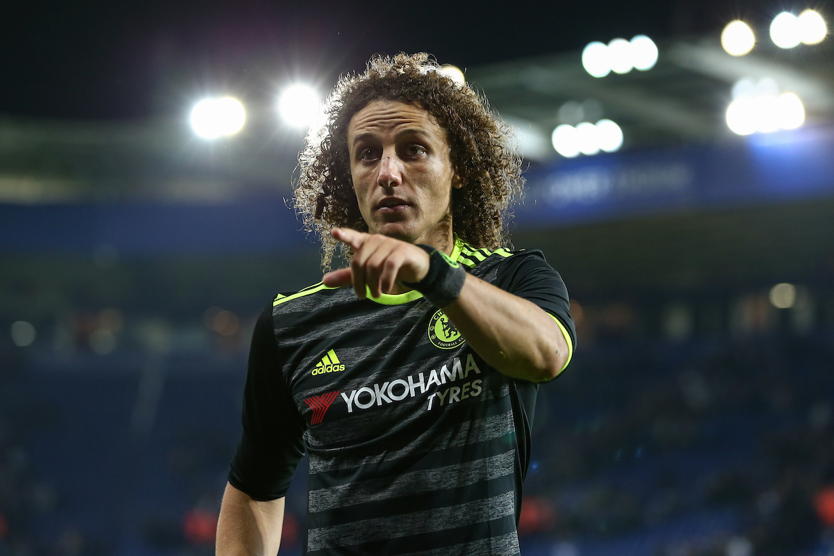 David Luiz of Chelsea during the EFL Cup match at the King Power Stadium, Leicester Picture by Andy Kearns/Focus Images Ltd 0781 864 4264 20/09/2016