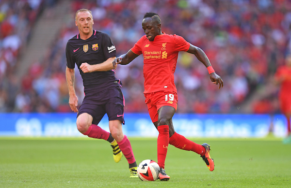 Sadio Mane of Liverpool during the International Champions Cup match against FC Barcelona at Wembley Stadium, London Picture by Andrew Timms/Focus Images Ltd +44 7917 236526 06/08/2016