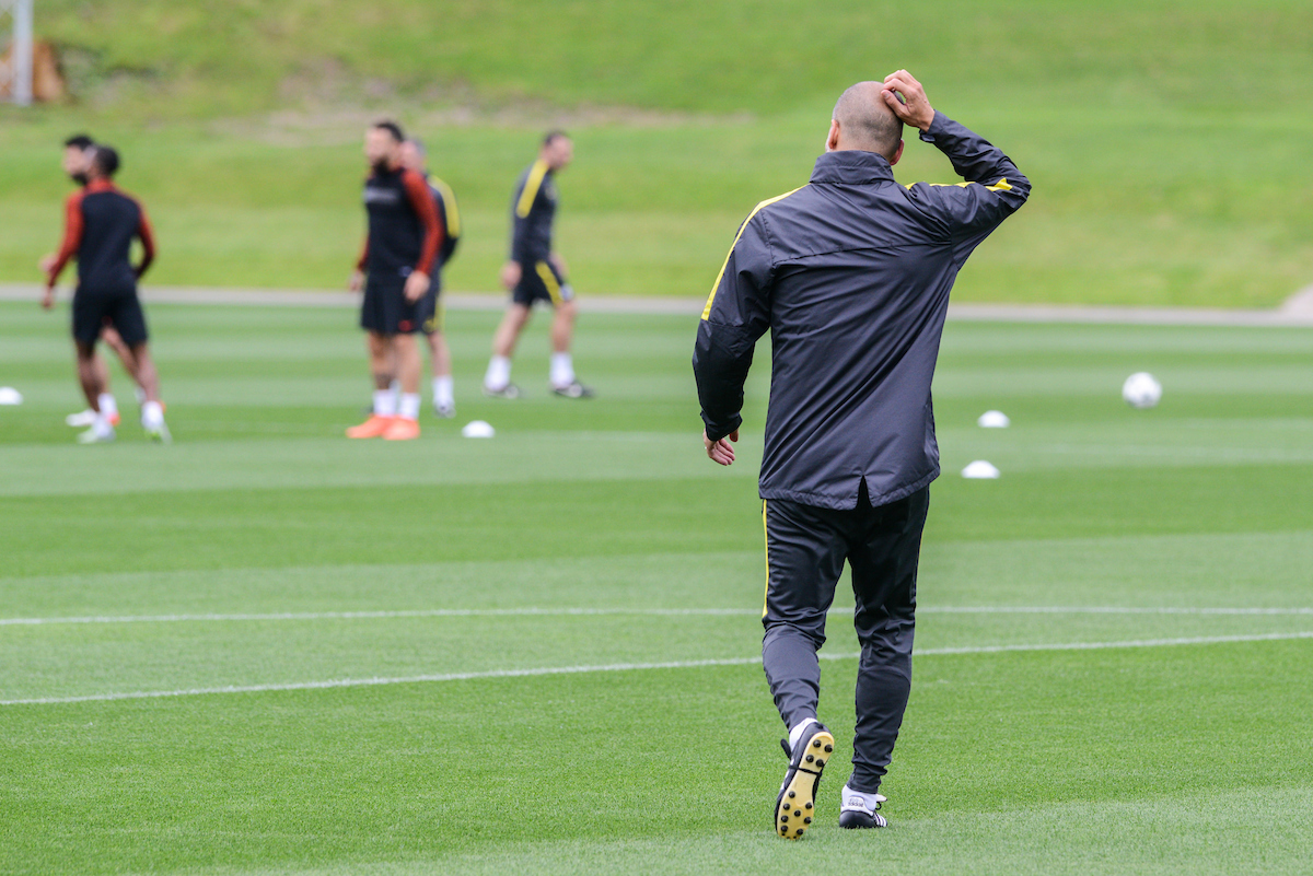 Manager Pep Guardiola during Manchester City training at City Football Academy , Manchester Picture by Matt Wilkinson/Focus Images Ltd 07814 960751 12/09/2016