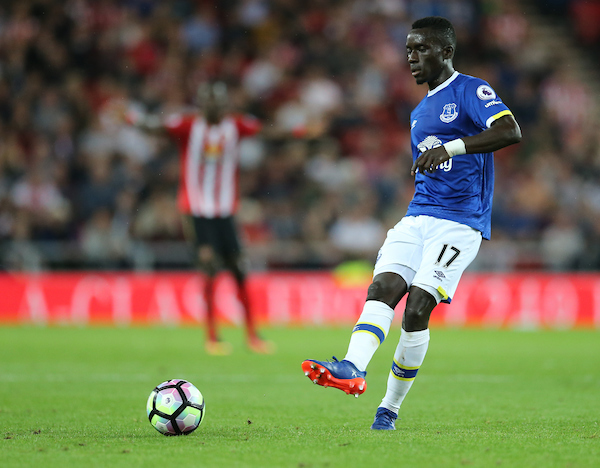 Idrissa Gueye of Everton during the Premier League match at the Stadium Of Light, Sunderland Picture by Simon Moore/Focus Images Ltd 07807 671782 12/09/2016