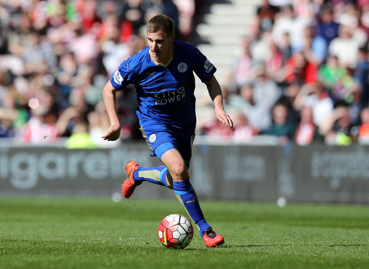 Marc Albrighton of Leicester City during the Barclays Premier League match at the Stadium Of Light, Sunderland Picture by Simon Moore/Focus Images Ltd 07807 671782 10/04/2016
