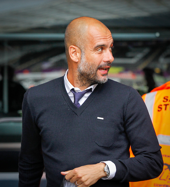 Pep Guardiola, Manager of Manchester City during the Premier League match at the Liberty Stadium, Swansea Picture by Mike Griffiths/Focus Images Ltd +44 7766 223933 24/09/2016