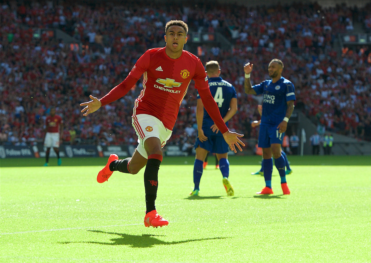 Jesse Lingard Manchester United Leicester City Focus