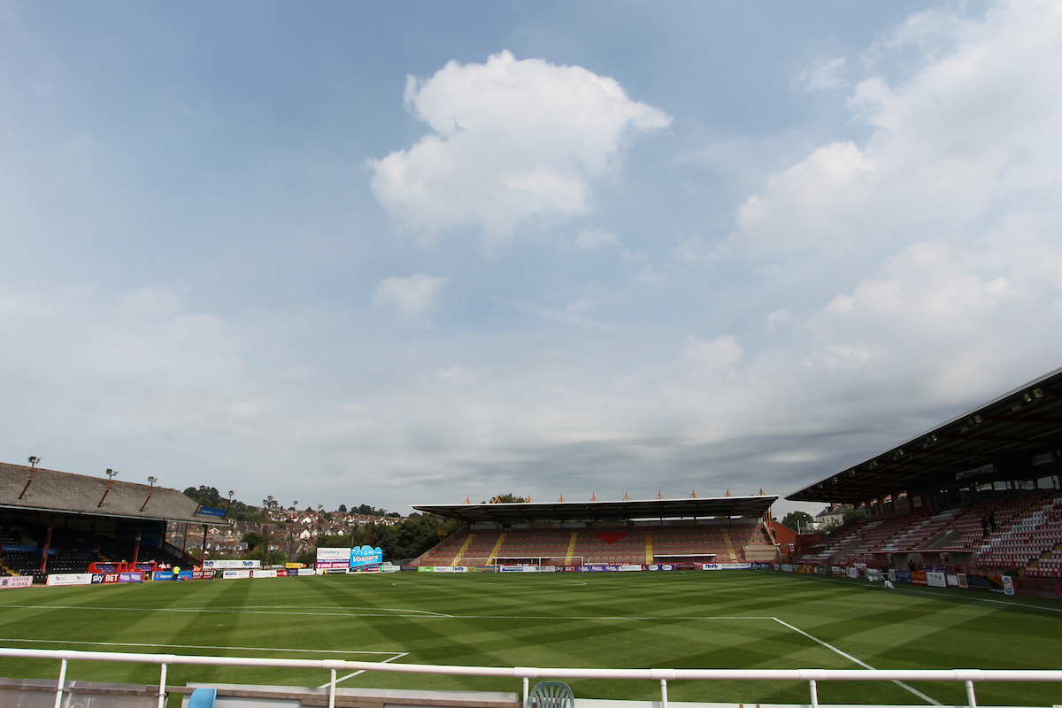 Vista general de St James' Park, casa del Exeter City desde 1904. Foto: Paul McQuillan/Focus Images Ltd.