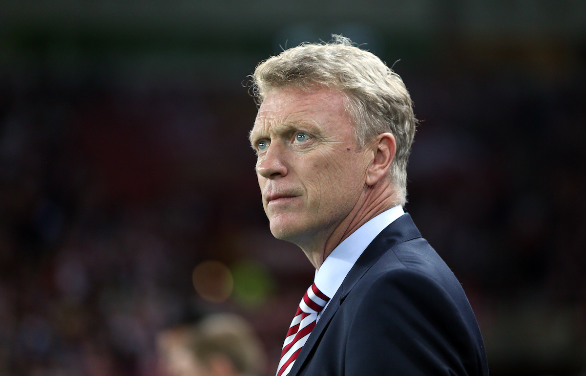Sunderland manager David Moyes during the Premier League match at the Stadium Of Light, Sunderland Picture by Christopher Booth/Focus Images Ltd 07711958291 12/09/2016