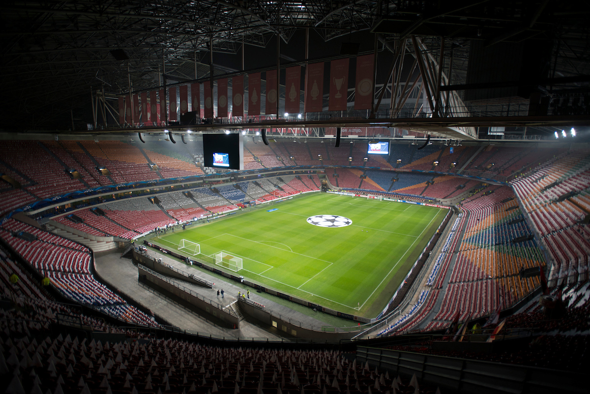 A general view of the stadium before the UEFA Champions League match at Amsterdam Arena, Amsterdam Picture by Russell Hart/Focus Images Ltd 07791 688 420 05/11/2014