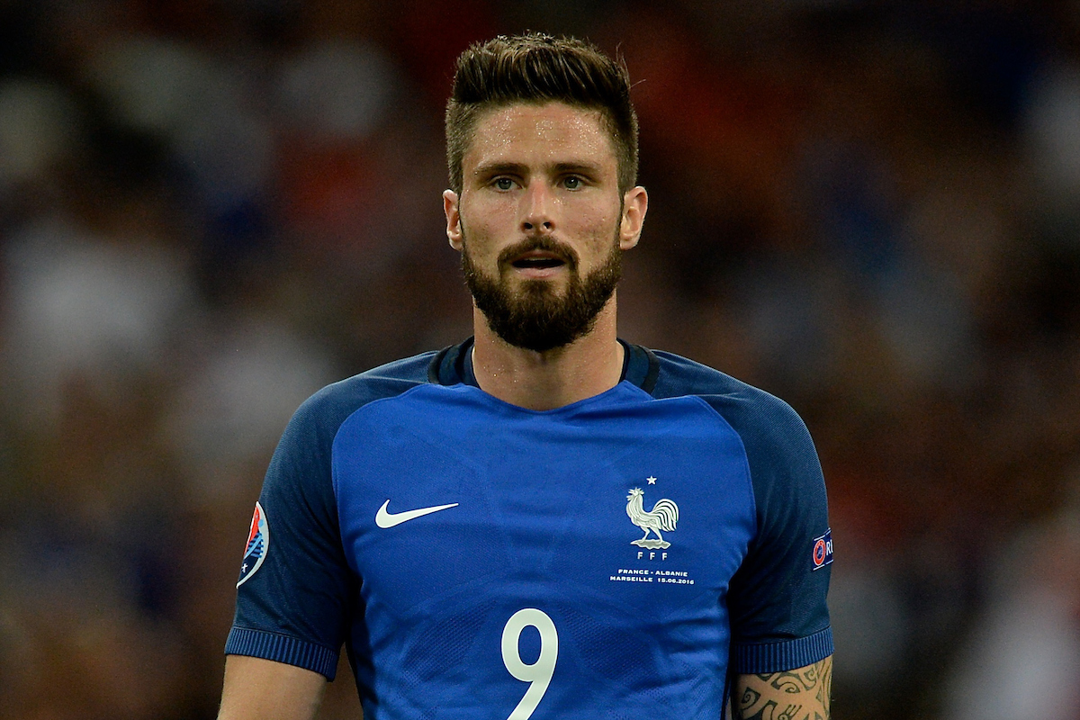 Olivier Giroud of France during the UEFA Euro 2016 match at Stade Velodrome, Marseille Picture by Kristian Kane/Focus Images Ltd 07814482222 15/06/2016
