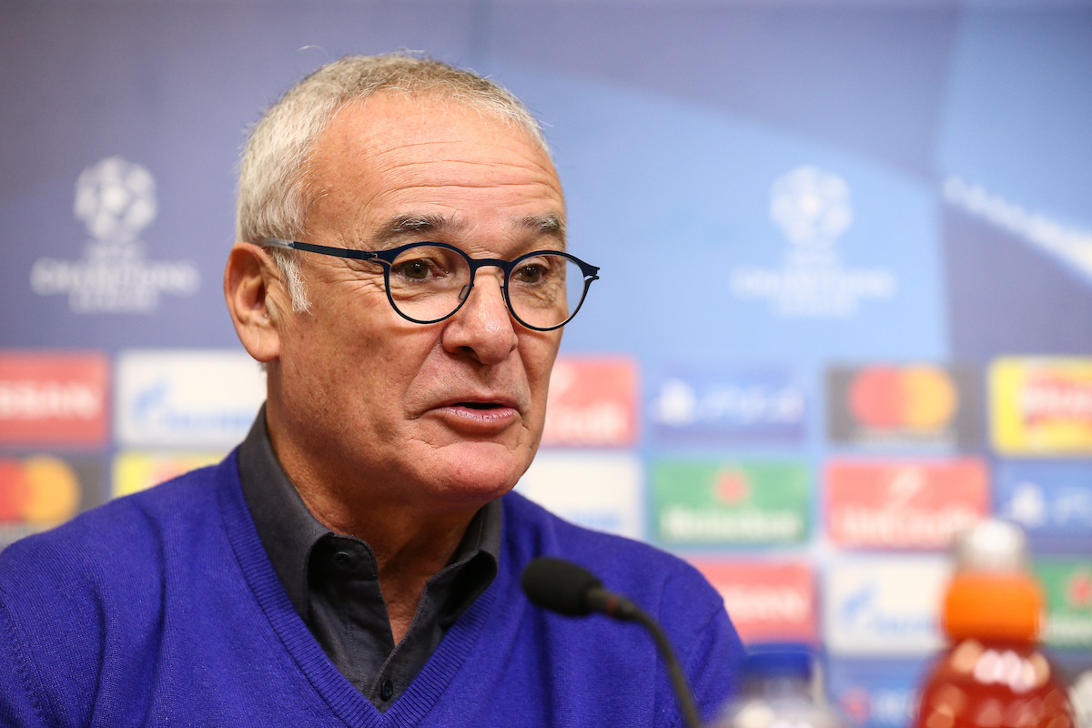 Claudio Ranieri ya ha superado la fase de grupos de la Champions League con cinco equipos diferentes. Foto: Andy Kearns/Focus Images Ltd.