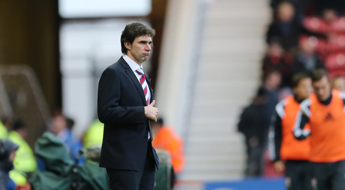 Middlesbrough manager Aitor Karanka during the Sky Bet Championship match at the Riverside Stadium, Middlesbrough Picture by Simon Moore/Focus Images Ltd 07807 671782 08/11/2014