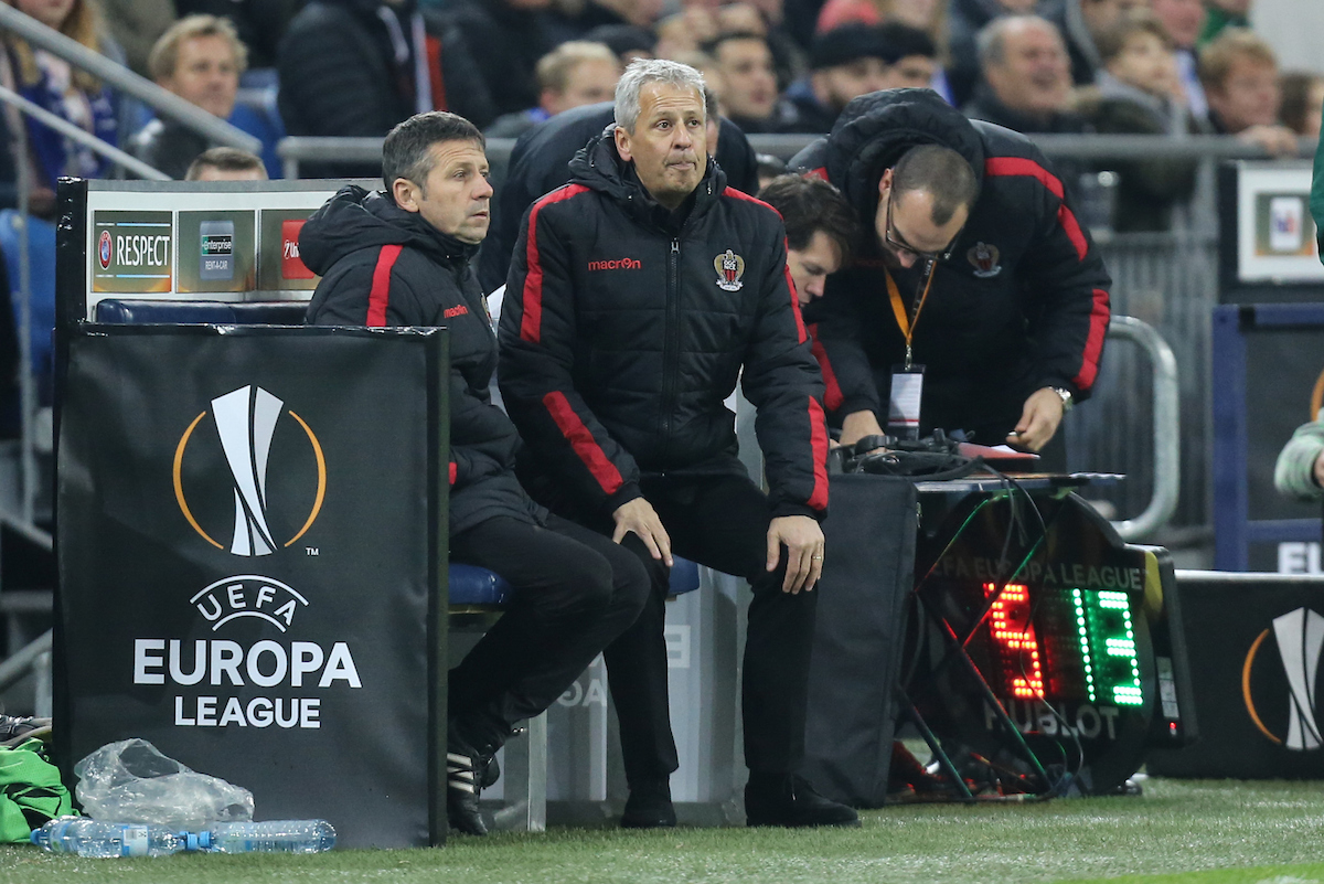 Lucien Favre, manager of OGC Nice during the UEFA Europa League match at Veltins-Arena, Gelsenkirchen Picture by EXPA Pictures/Focus Images Ltd 07814482222 24/11/2016 *** UK & IRELAND ONLY *** EXPA-EIB-161125-0015.jpg