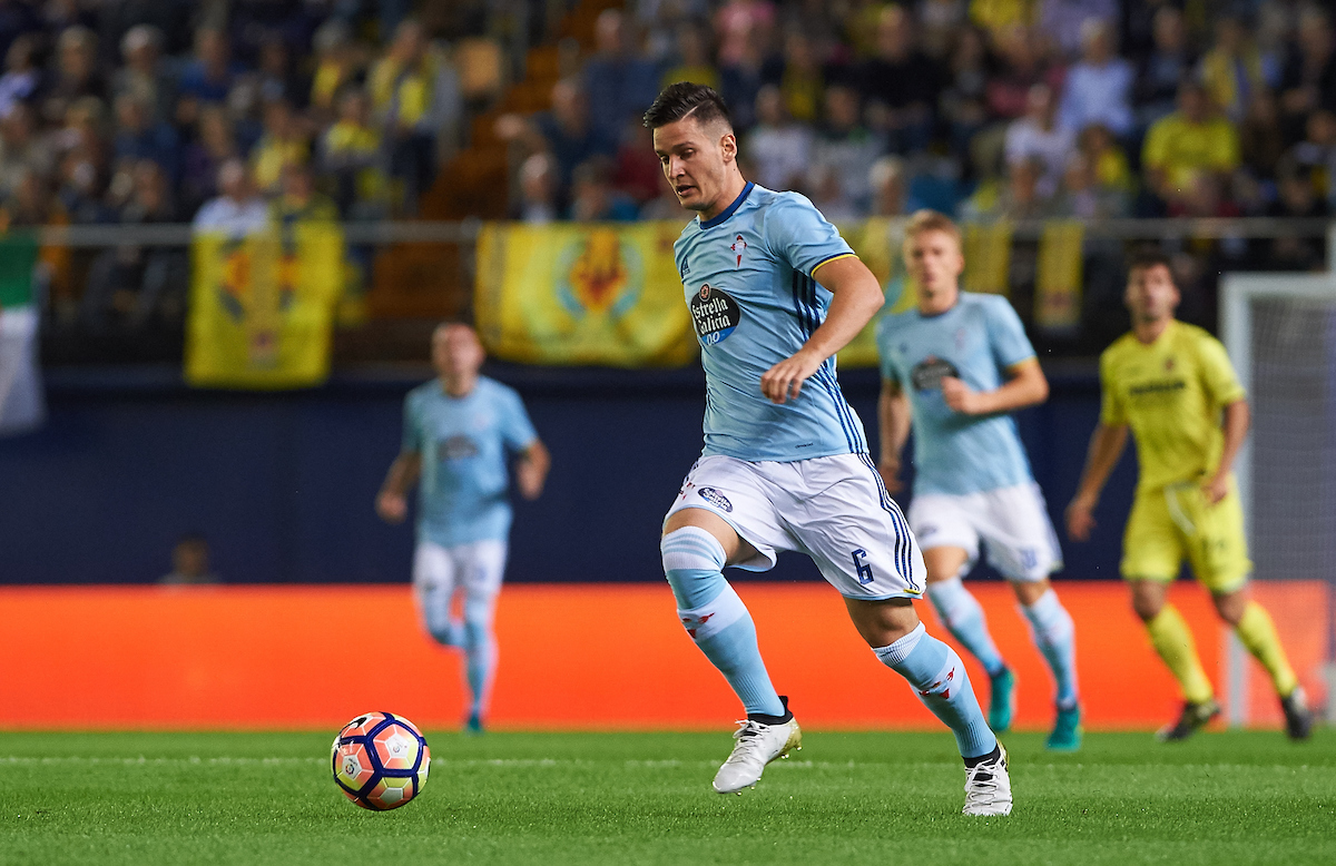 Nemanja Radoja of Celta Vigo during the La Liga match at Estadio El Madrigal, Villarreal Picture by Maria Jose Segovia/Focus Images Ltd +34 660052291 16/10/2016