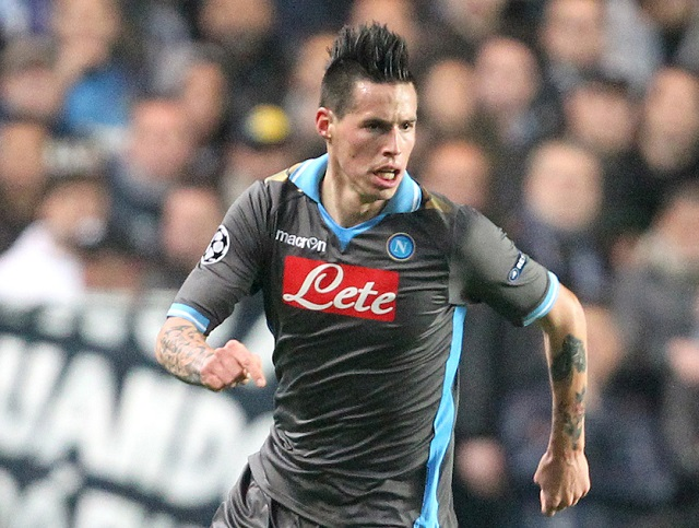 Picture by Paul Terry/Focus Images Ltd. 07545642257.14/03/12.Marek Hamsik of Napoli during the UEFA Champions League last 16 second leg match at Stamford Bridge stadium, London.
