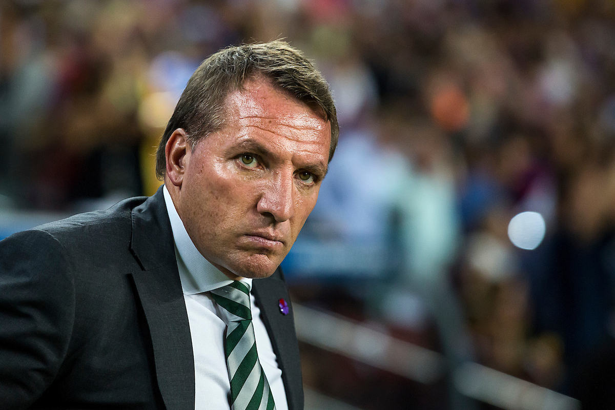 Celtic's general coach Brendan Rodgers before the UEFA Champions League match against FC Barcelona at Camp Nou, Barcelona Picture by Luis Tato/Focus Images Ltd (+34) 661 459 33 13/09/2016