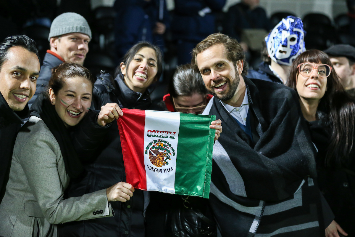 Mexico U20 supporters during the International Friendly match at The Hive Stadium, Harrow Picture by David Horn/Focus Images Ltd +44 7545 970036 25/03/2015