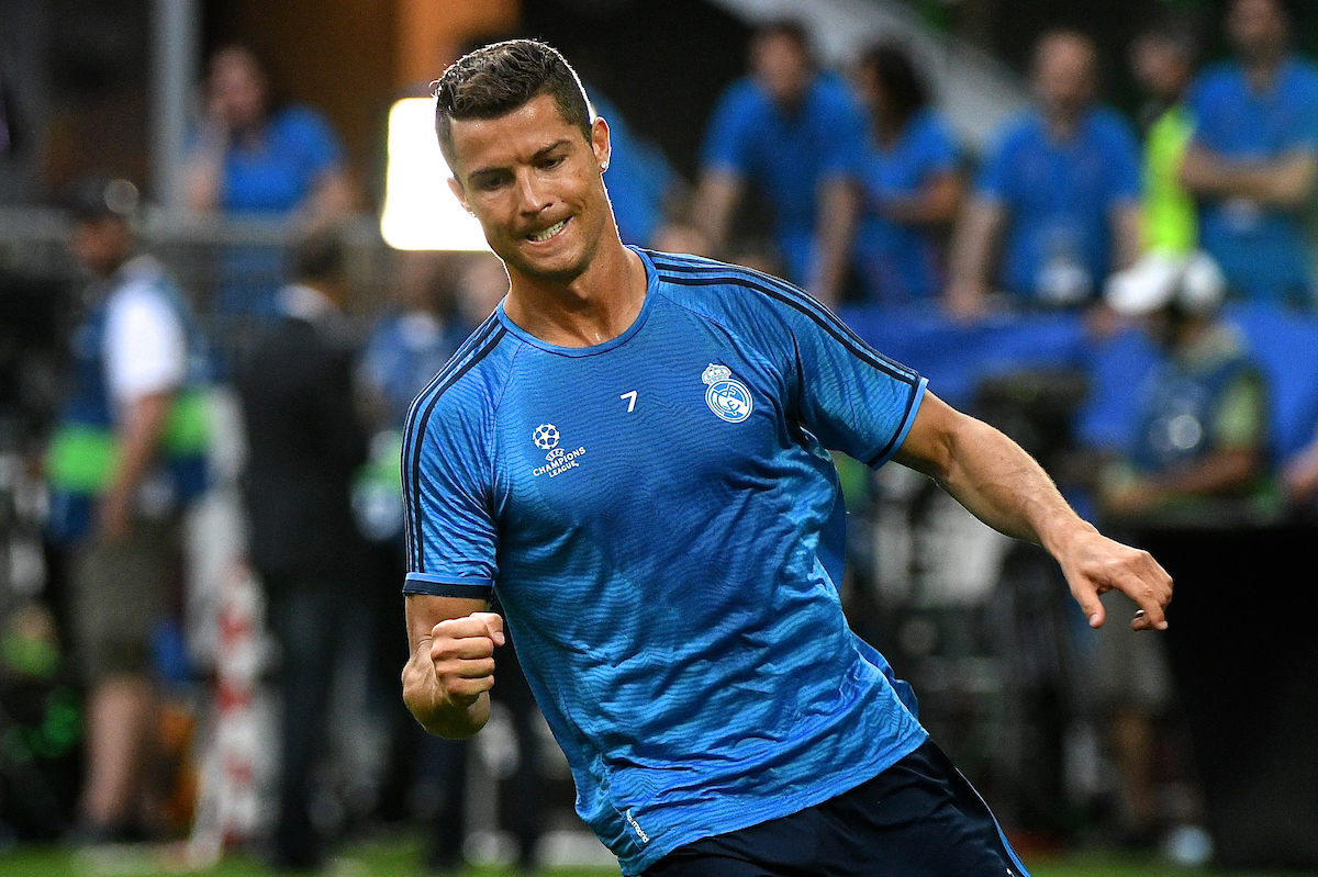 Cristiano Ronaldo of Real Madrid pictured during Real Madrid training prior to their UEFA Champions League Final match against Atlético Madrid. San Siro, Milan, Italy. Picture by Kristian Kane/Focus Images Ltd 07814482222 27/05/2016