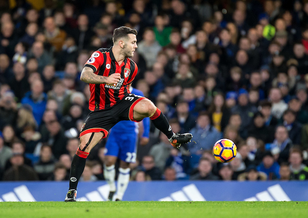 Jack Wilshere of Bournemouth during the Premier League match at Stamford Bridge, London Picture by Liam McAvoy/Focus Images Ltd 07413 543156 26/12/2016